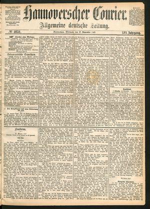 Hannoverscher Kurier vom 17.11.1869