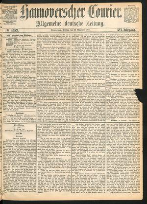 Hannoverscher Kurier vom 19.11.1869