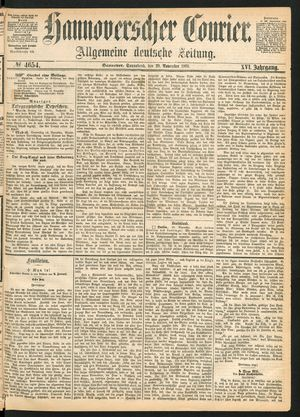 Hannoverscher Kurier on Nov 20, 1869