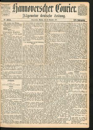 Hannoverscher Kurier on Nov 22, 1869