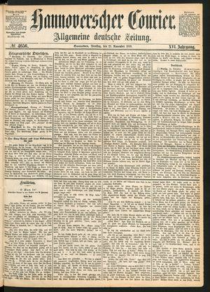 Hannoverscher Kurier vom 23.11.1869