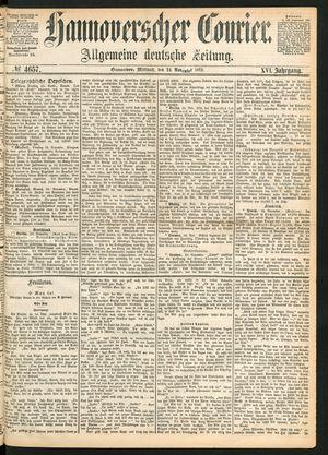 Hannoverscher Kurier vom 24.11.1869