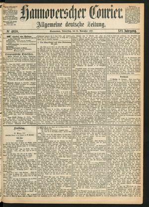 Hannoverscher Kurier vom 25.11.1869