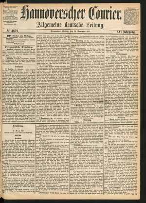 Hannoverscher Kurier vom 26.11.1869