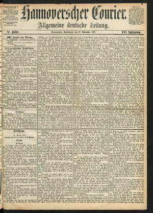 Hannoverscher Kurier on Nov 27, 1869