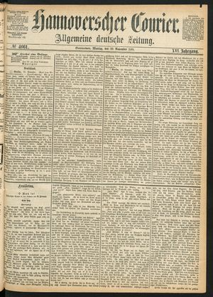 Hannoverscher Kurier on Nov 29, 1869