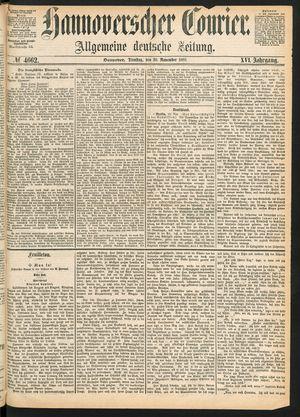 Hannoverscher Kurier vom 30.11.1869