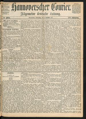 Hannoverscher Kurier vom 02.12.1869