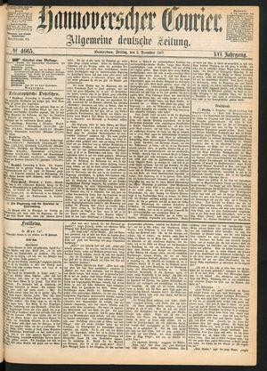 Hannoverscher Kurier vom 03.12.1869