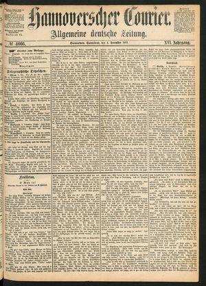 Hannoverscher Kurier vom 04.12.1869