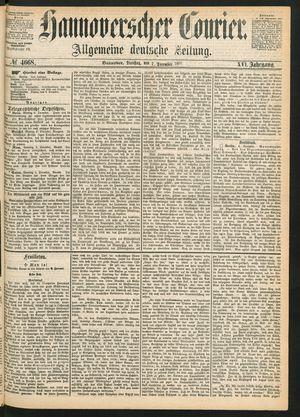 Hannoverscher Kurier on Dec 7, 1869