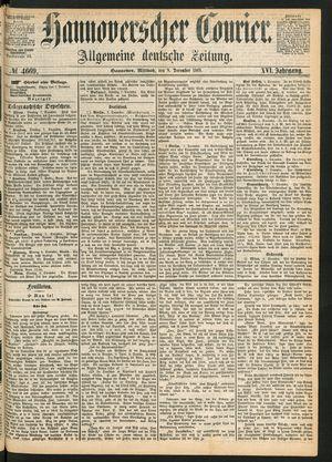 Hannoverscher Kurier on Dec 8, 1869