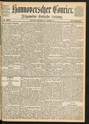 Hannoverscher Kurier vom 09.12.1869