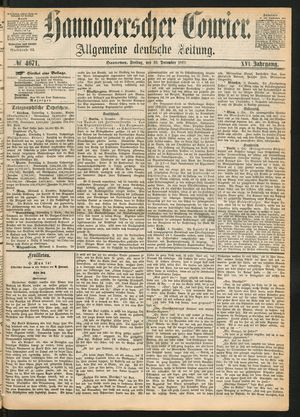 Hannoverscher Kurier vom 10.12.1869
