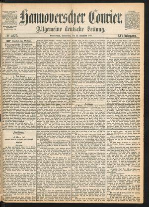 Hannoverscher Kurier vom 16.12.1869