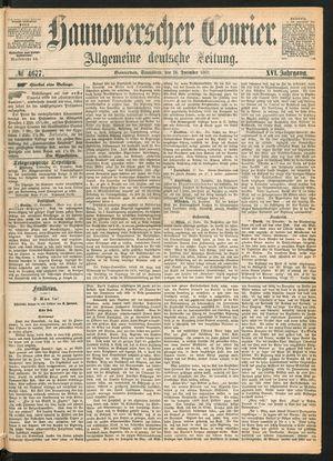 Hannoverscher Kurier vom 18.12.1869