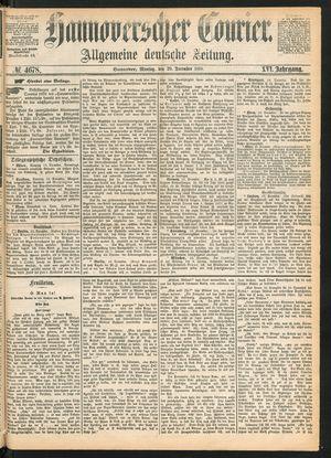 Hannoverscher Kurier vom 20.12.1869