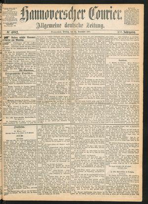 Hannoverscher Kurier on Dec 24, 1869