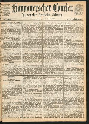Hannoverscher Kurier vom 28.12.1869