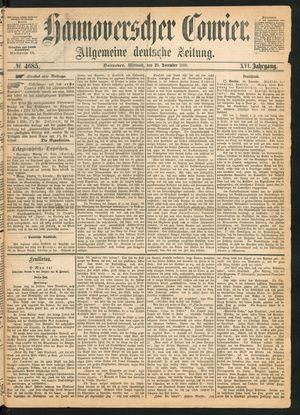 Hannoverscher Kurier vom 29.12.1869