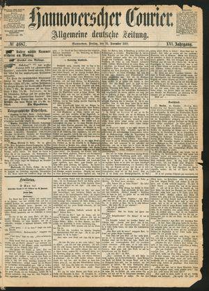 Hannoverscher Kurier vom 31.12.1869