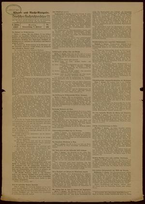 Deutsches Nachrichtenbüro vom 07.01.1937