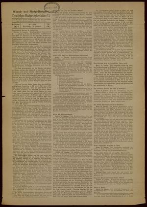 Deutsches Nachrichtenbüro vom 12.01.1937