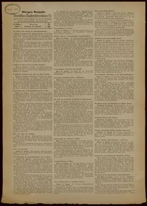 Deutsches Nachrichtenbüro on Jan 15, 1937