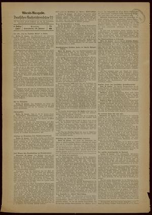 Deutsches Nachrichtenbüro vom 16.01.1937