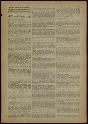 Deutsches Nachrichtenbüro vom 18.01.1937
