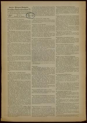 Deutsches Nachrichtenbüro vom 26.01.1937