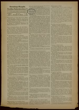 Deutsches Nachrichtenbüro vom 27.01.1937