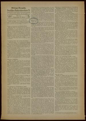 Deutsches Nachrichtenbüro vom 28.01.1937