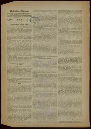 Deutsches Nachrichtenbüro on Jan 29, 1937