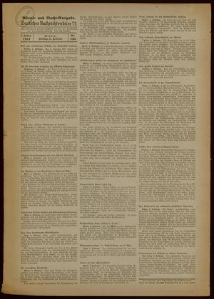 Deutsches Nachrichtenbüro vom 05.02.1937