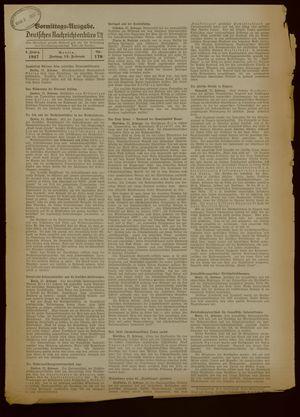 Deutsches Nachrichtenbüro vom 12.02.1937