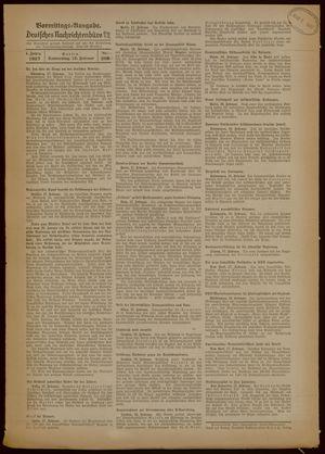 Deutsches Nachrichtenbüro vom 18.02.1937