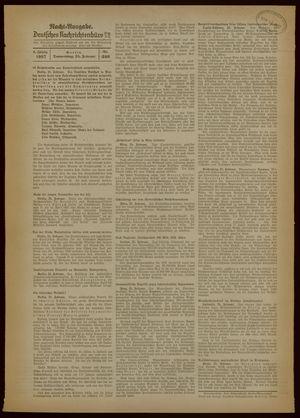 Deutsches Nachrichtenbüro vom 25.02.1937