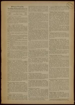 Deutsches Nachrichtenbüro vom 04.03.1937