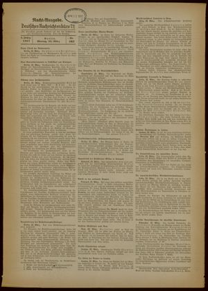 Deutsches Nachrichtenbüro vom 22.03.1937