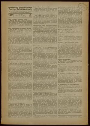 Deutsches Nachrichtenbüro vom 31.03.1937