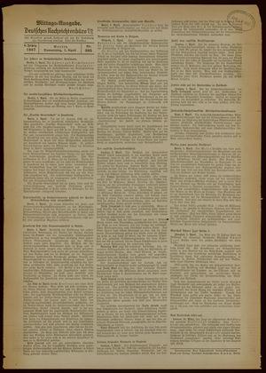 Deutsches Nachrichtenbüro vom 01.04.1937