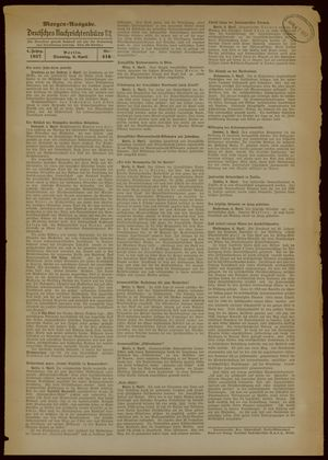 Deutsches Nachrichtenbüro vom 06.04.1937