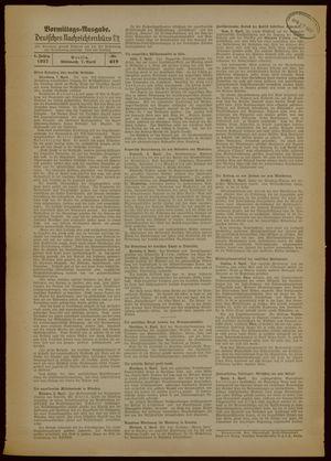 Deutsches Nachrichtenbüro vom 07.04.1937