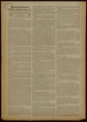 Deutsches Nachrichtenbüro vom 12.04.1937