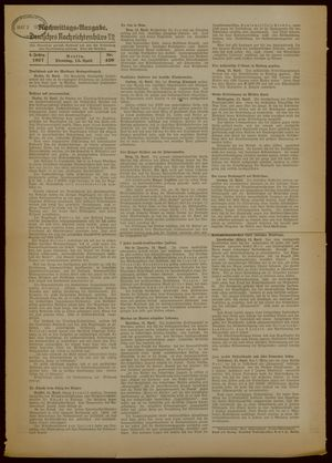 Deutsches Nachrichtenbüro on Apr 13, 1937