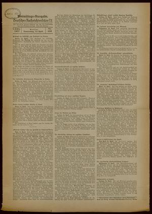 Deutsches Nachrichtenbüro vom 15.04.1937