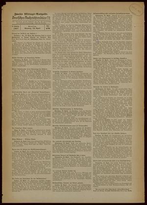 Deutsches Nachrichtenbüro vom 19.04.1937