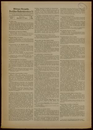Deutsches Nachrichtenbüro vom 21.04.1937