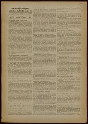 Deutsches Nachrichtenbüro vom 23.04.1937